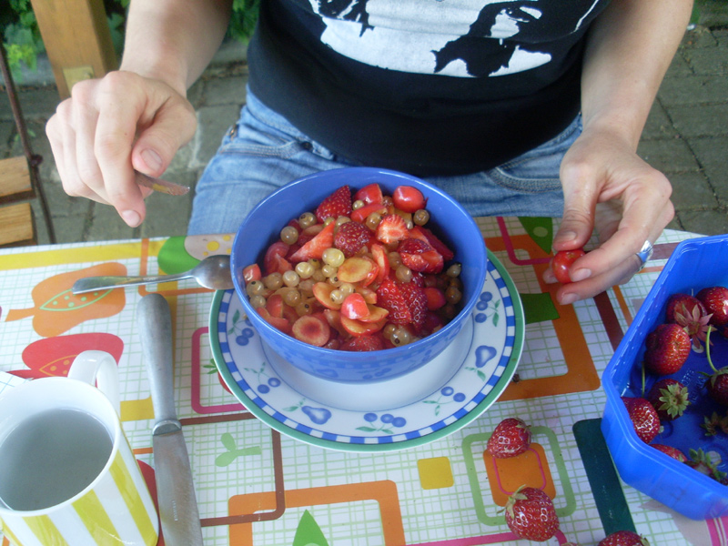 Obstcocktail aus dem eigenen Garten