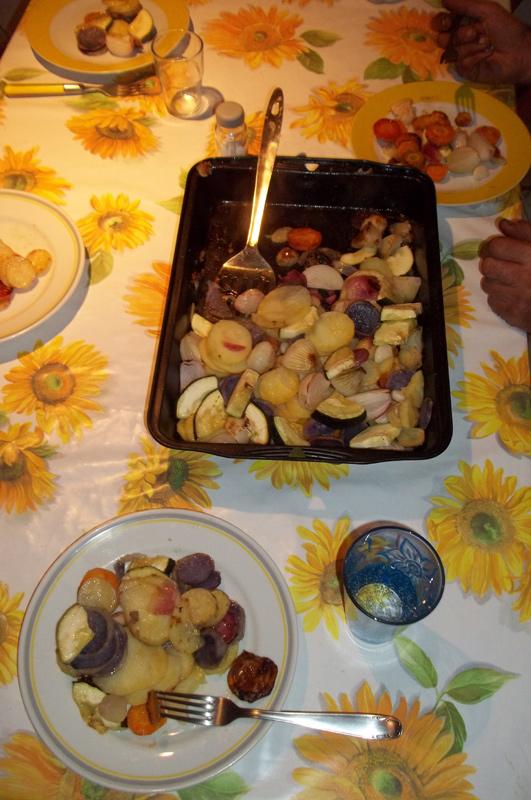 Kartoffeln-Möhren-Zwiebeln-Knoblauch-Pfanne