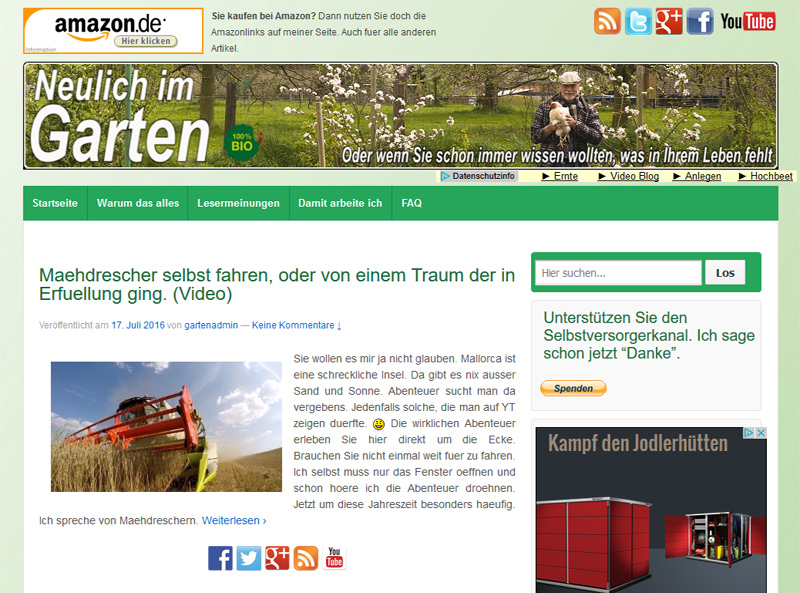 Screenshot von neulichimgarten.de/blog/ (20. Juli 2016)