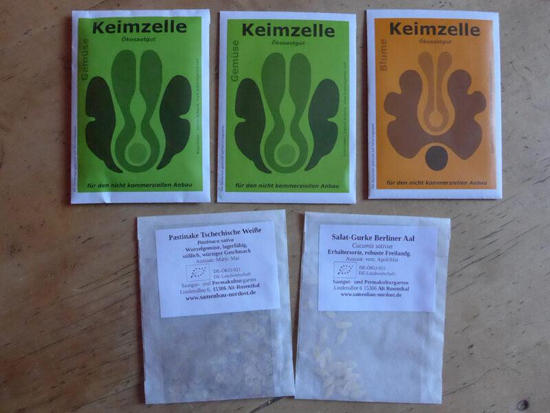 Saatgut-Tütchen von Kleinerzeugern