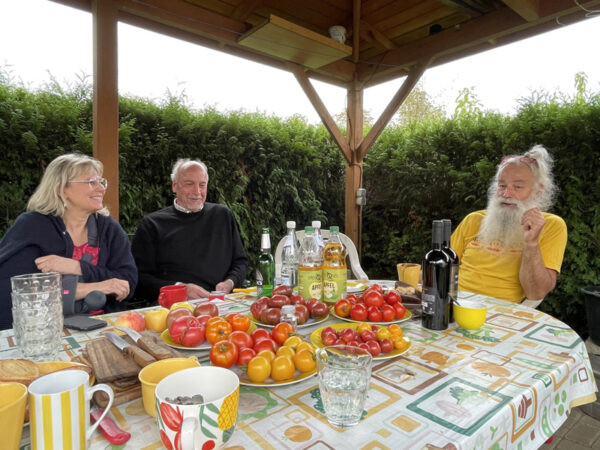 Drei Tomatenverkoster